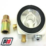 Mocal Billet Sandwich Plate 3 Port Sensor With Oil Filter 3/4 Adaptor And Plugs